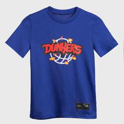 Girls'/Boys' Basketball T-Shirt TS500 Fast - Blue Dunkers
