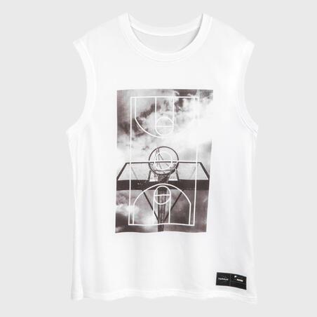 Men's Basketball Sleeveless T-Shirt / Jersey TS500 - White Ground