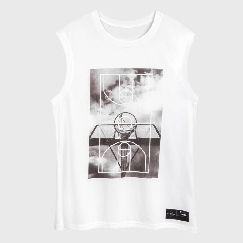 BASKETBALOVÉ OBLEČENÍ Basketbal - DRES TS500 FAST BÍLÝ GROUND TARMAK - Basketbalové oblečení a doplňky