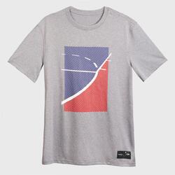 Basketbalshirt voor heren TS500 FAST grijs The Paint