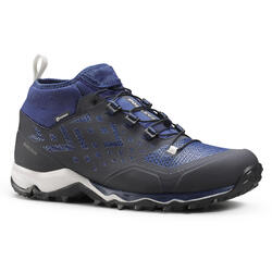 ULTRA-LIGHT WATERPROOF HIKING SHOES - FH500 - BLUE - MEN