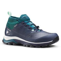 ULTRA-LIGHT WATERPROOF HIKING SHOES - FH500 - DARK BLUE - WOMEN
