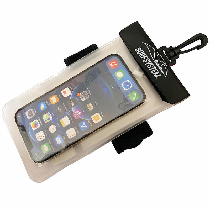Husă Etanșă flotantă pentru telefon IPX8 + Bandă cu arici şi legături căşti