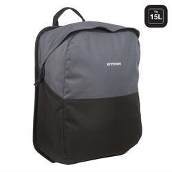 Tas voor stadsfiets 100 15 liter voor bagagedrager
