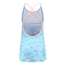 女孩款一件式連身裙泳裝Riana - 阿里藍