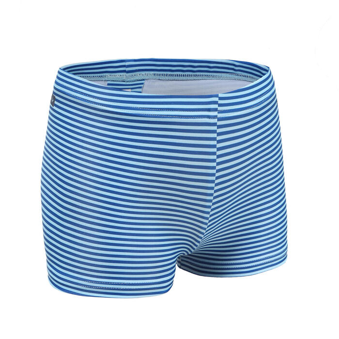 嬰幼兒款游泳短褲 - 藍色條紋圖案