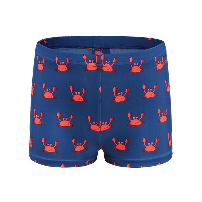 嬰幼兒款游泳短褲 - 藍色螃蟹圖案