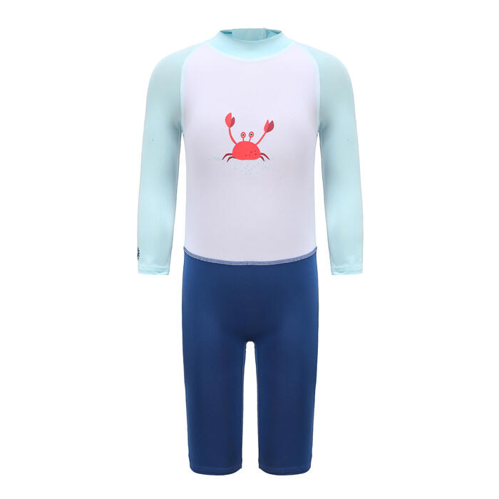Baby / Kids' long-sleeve UV-protection swimming suit - Blue Print