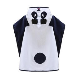 Baby / Kids' Poncho with Hood - White Panda Print