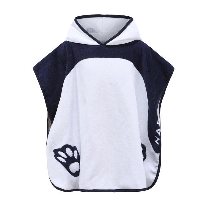 嬰兒款/兒童款附兜帽斗篷 - 白色熊貓圖案