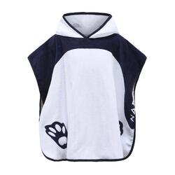 Baby / Kids' Poncho with Hood - White Panda Print