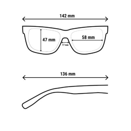 MH120 polarizing category 3 hiking sunglasses - Adults