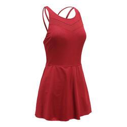 連身裙泳衣PA RIANA PLUS - 酒紅色