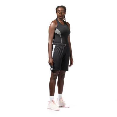 Women's Intermediate Basketball Base Layer Tank Top - Black
