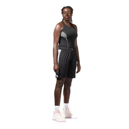 Women's Intermediate Sleeveless Basketball Base Layer Jersey - Black