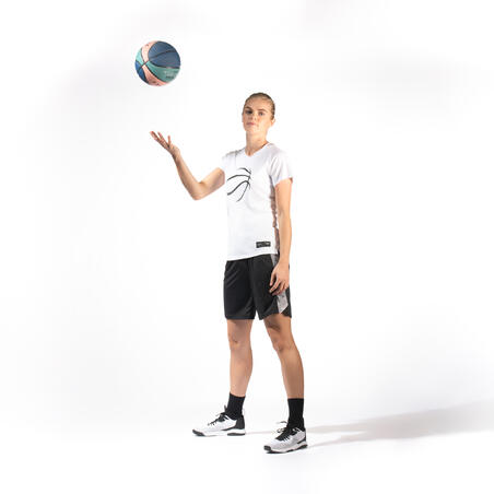 Women's Intermediate Low-Rise Basketball Shoes Fast 500 - White/Black