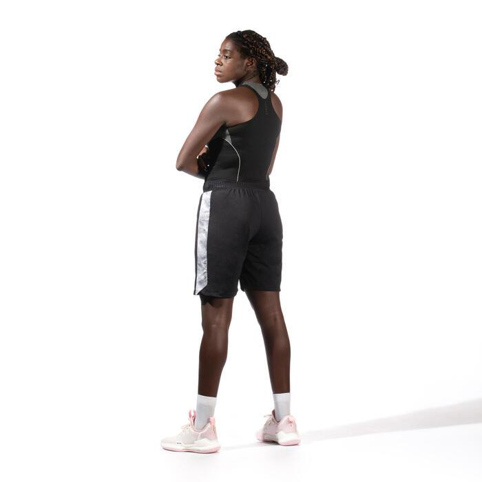Funktionsshirt ärmellos Basketball Damen schwarz
