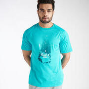MEN'S CRICKET T-SHIRT QUICK DRY CT 500 TURQUOISE