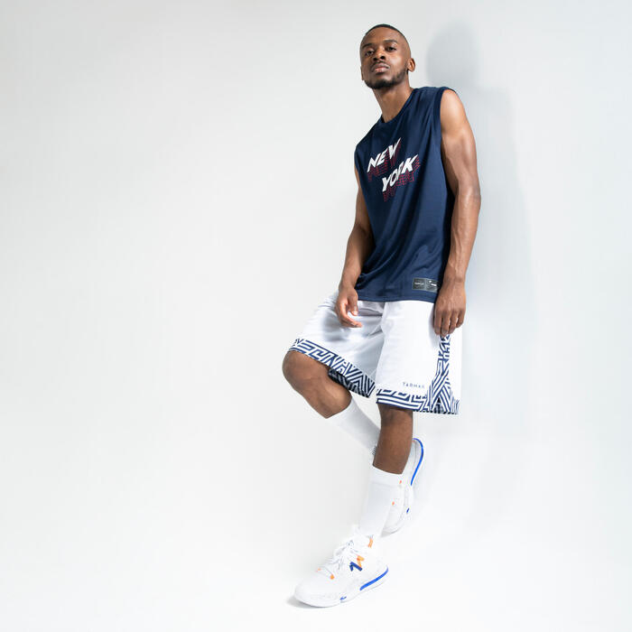 Men's Sleeveless Basketball T-Shirt / Jersey TS500 - Blue New York