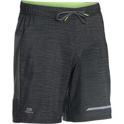 KALENJI DRY+ MEN'S BREATHABLE RUNNING SHORTS - GREY NAVY