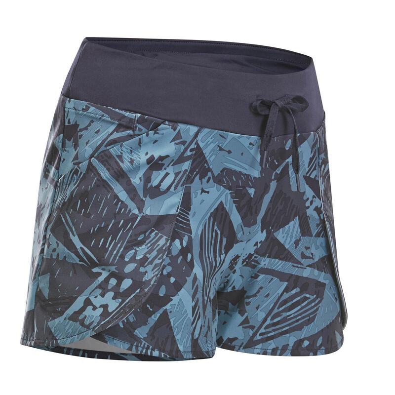 Dámské turistické kraťasy NH 500 Slim tmavě modré