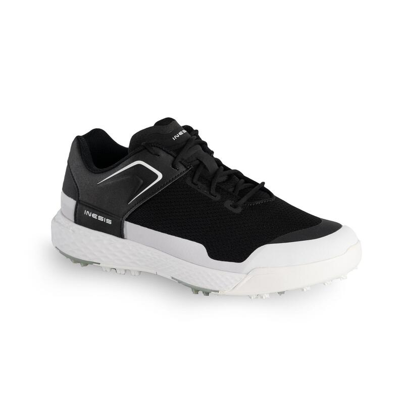 MEN'S DRY GRIP GOLF SHOES - BLACK AND WHITE
