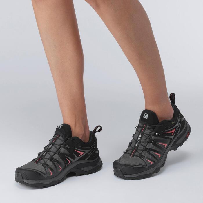 Wanderschuhe X-Ultra 3 GTX Damen schwarz