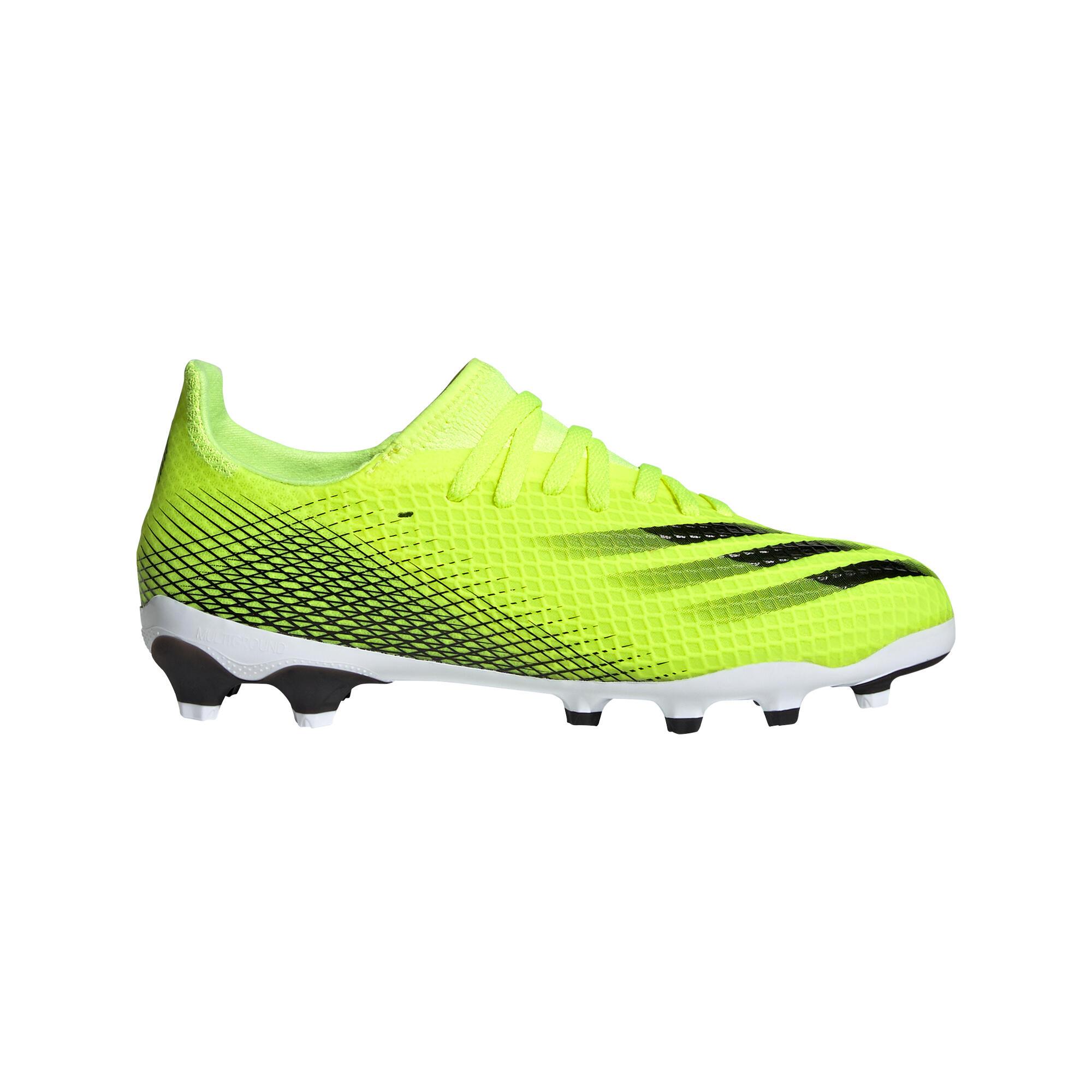 Fussballschuhe Nocken X.3 MG Kinder Adidas gelb