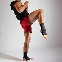 Adult Muay Thai Ankle Support - Black/Red