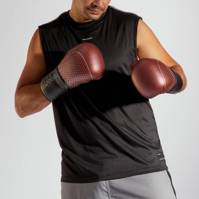 BOXERSKÉ OBLEČENÍ Box a kickbox - PÁNSKÉ BOXERSKÉ TÍLKO 500 OUTSHOCK - Boxerské boty a oblečení