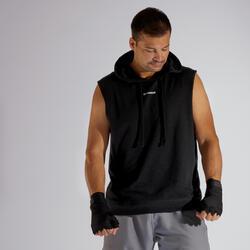 拳擊連帽背心 - 黑色