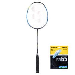 Badmintonschläger Voltric 0,6 DG Slim + Saiten BG65 Erwachsene