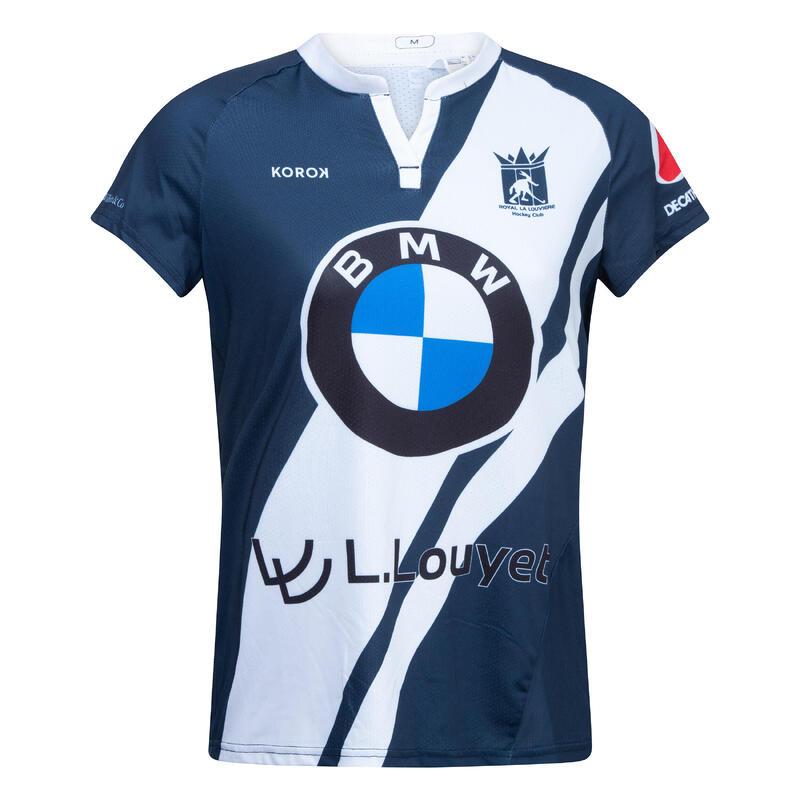 Camiseta de hockey sobre hierba FH500 mujer La Louvière azul