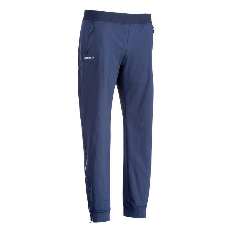 Pantalon de training de hockey sur gazon femme FH900 bleu marine