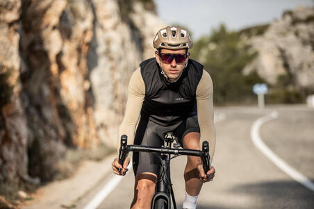 Road Cycling Windproof Gilet Racer - Black
