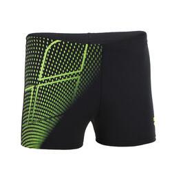 Zwemboxer voor jongens zwart/geel