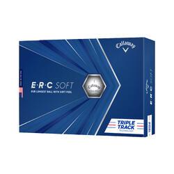 Golfballen Ercsoft TripleTrack 12 stuks wit