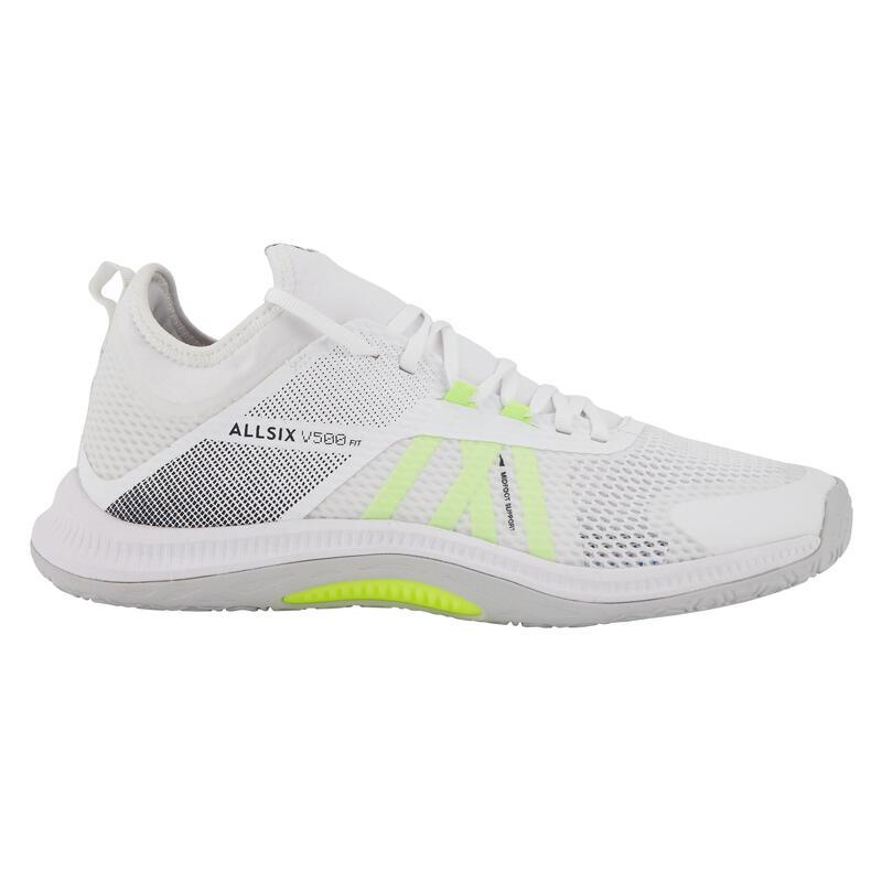 Chaussures de volley-ball FIT pour joueurs réguliers, blanches et jaunes
