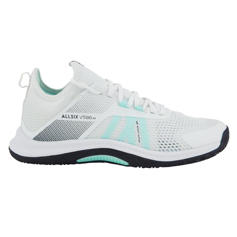 Chaussures de volley-ball FIT pour joueuses régulières, blanches et vert menthe