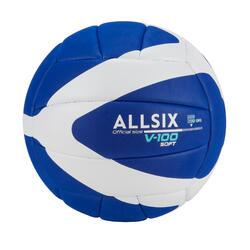 15歲以上青少年款軟式排球V100 (重260 g到280 g)-藍白配色
