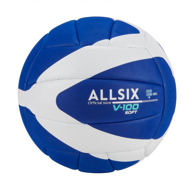 260-280 g Volleyball for Over-15s V100 Soft - Blue/White