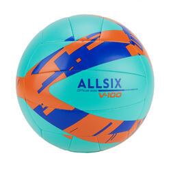 Volleybal voor initiatie V100 turquoiseblauw