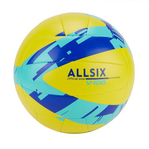 BALLON D'INITIATION AU VOLLEY-BALL V100 JAUNE