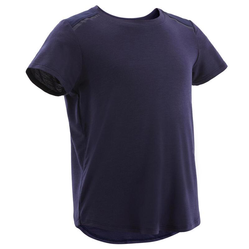 T-shirt synthétique respirant bébé - 500 bleu marine
