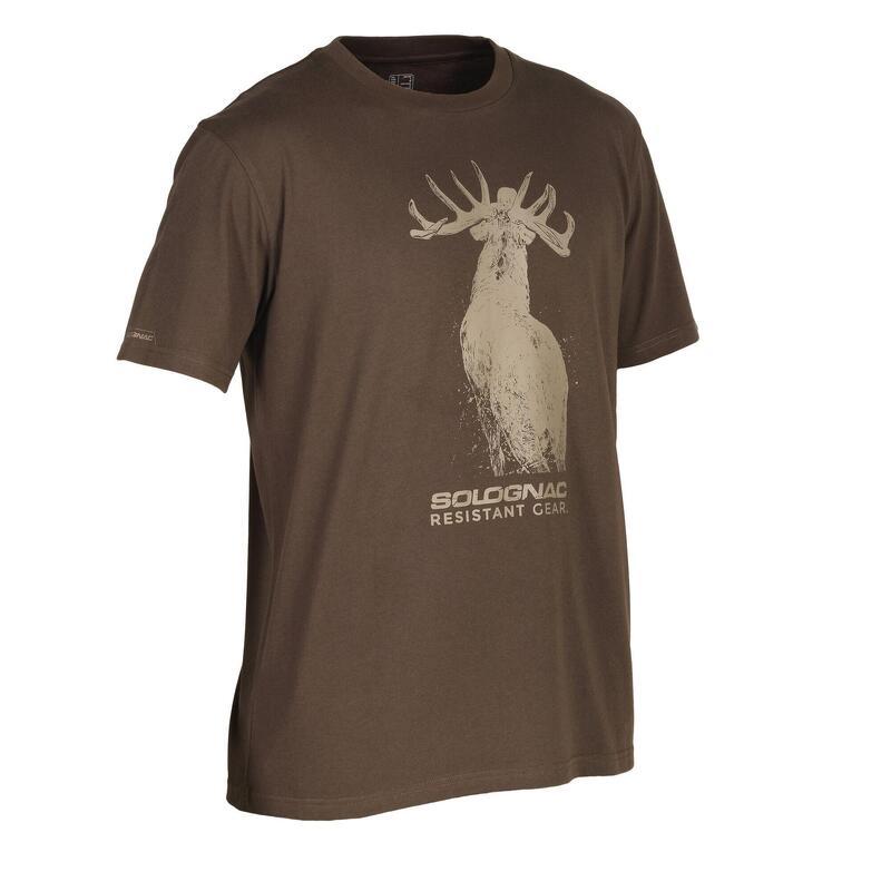 Cotton short-sleeved hunting t-shirt 100 Deer