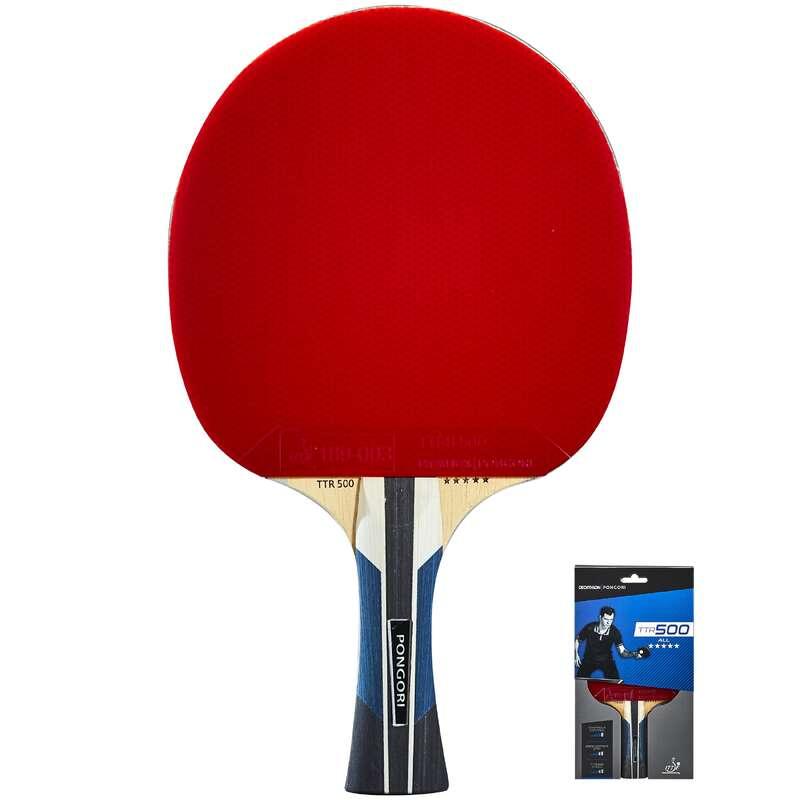 EGYESÜLETI ASZTALITENISZ-ÜTŐK Pingpong - Pingpongütő TTR 500 5* PONGORI - Pingponglabda, ütő, ütőfa, borítás