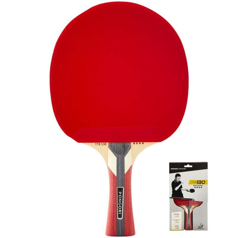 EGYESÜLETI ASZTALITENISZ-ÜTŐK Pingpong - Pingpongütő TTR 130 4* Spin PONGORI - Pingponglabda, ütő, ütőfa, borítás