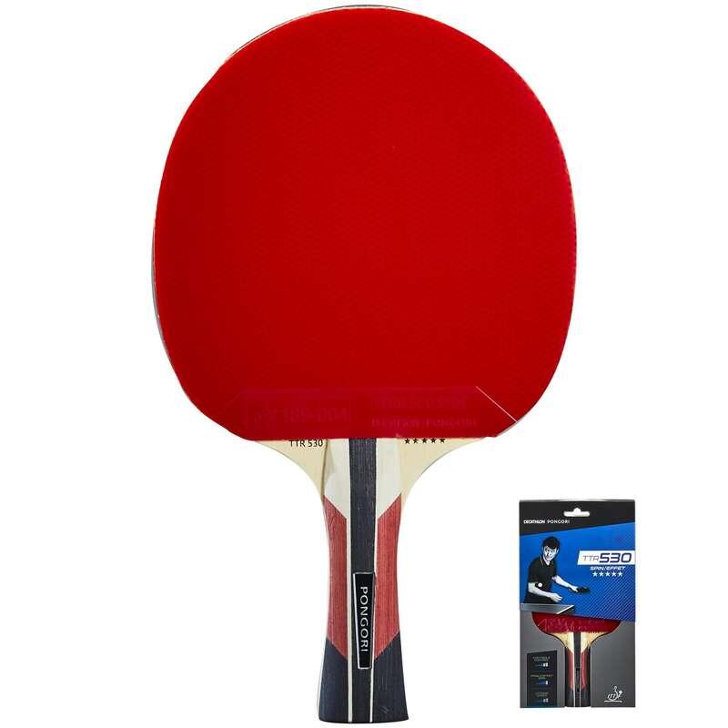 MASA TENİSİ RAKETLERİ -  ORTA SEVİYE Tenis - TTR 530 SPIN RAKET  PONGORI - Masa Tenisi