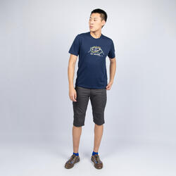 男款T恤NH500 - 軍藍色