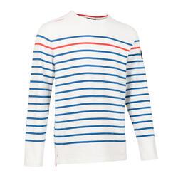 男款航海長袖T恤-白色